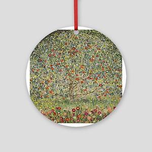 Gustav Klimt Apple Tree Round Ornament