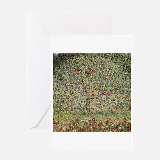 Gustav Klimt Apple Tree Greeting Cards