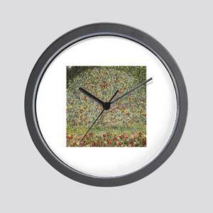 Gustav Klimt Apple Tree Wall Clock