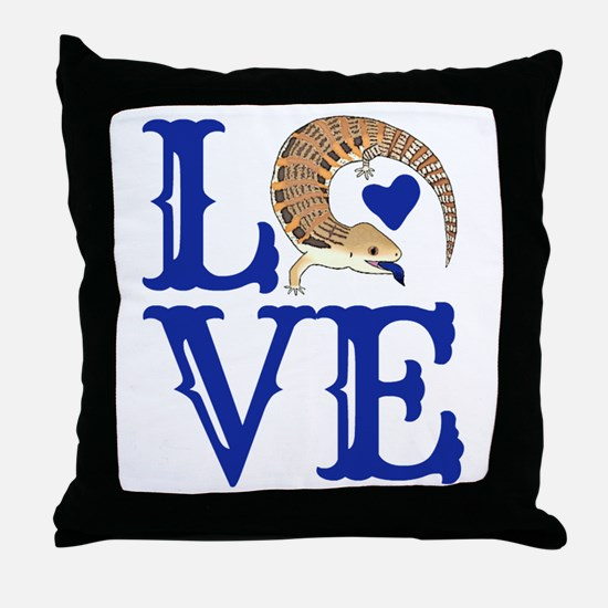 Love Blue Tongued Skink Throw Pillow