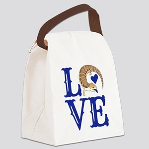 Love Blue Tongued Skink Canvas Lunch Bag