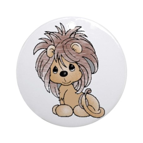 Cute Lion Cub Ornament (Round)
