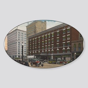 Youngstown Tod Hotel Oval Sticker