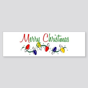 Merry Christmas Lights Bumper Sticker