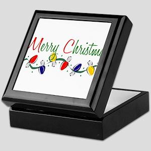 Merry Christmas Lights Keepsake Box