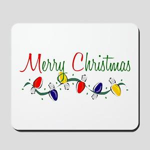 Merry Christmas Lights Mousepad