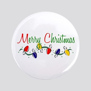 "Merry Christmas Lights 3.5"" Button"