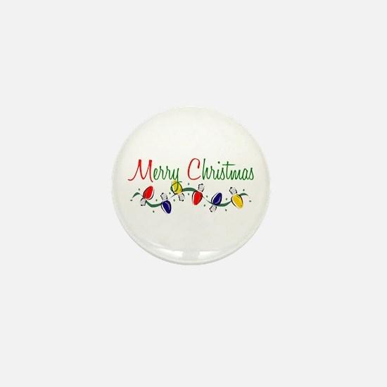 Merry Christmas Lights Mini Button