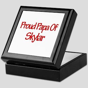 Proud Papa of Skylar Keepsake Box