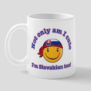 Not only am I cute I'm Slovakian too Mug