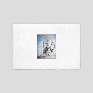 Elephant! Wildlife art! 4' x 6' Rug