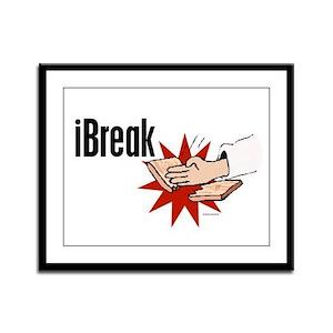 iBreak 1 Framed Panel Print