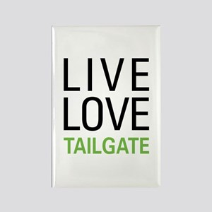 Live Love Tailgate Rectangle Magnet