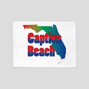 Captiva Beach Florida 5'x7'Area Rug