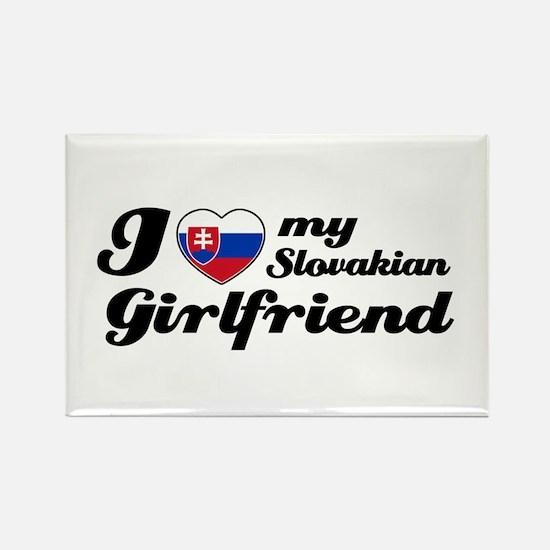 I love my Slovakian Girlfriend Rectangle Magnet