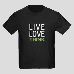 Live Love Think Kids Dark T-Shirt