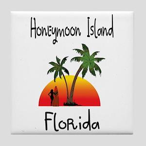 Honeymoon Island Florida Tile Coaster