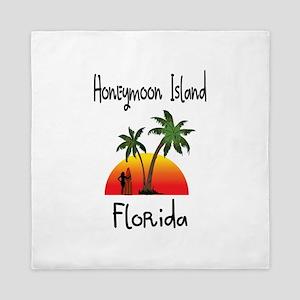 Honeymoon Island Florida Queen Duvet
