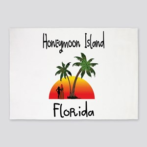 Honeymoon Island Florida 5'x7'Area Rug