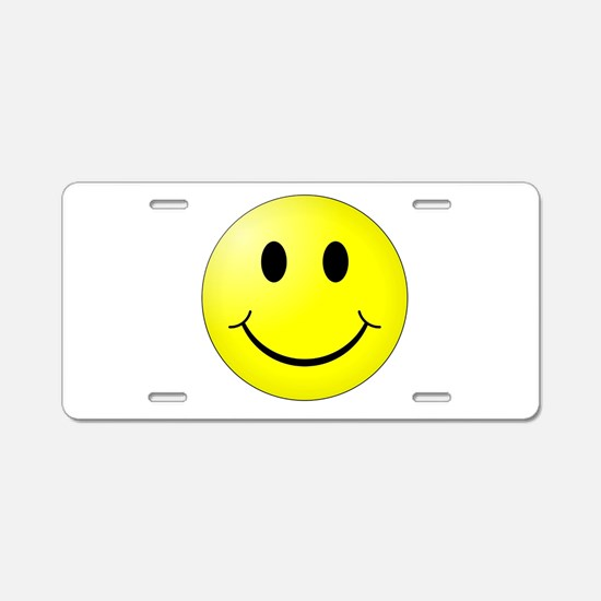 Smiley Face Aluminum License Plate