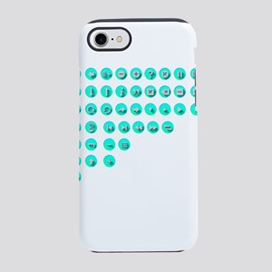 Turquoise Control Buttons iPhone 8/7 Tough Case