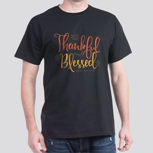 Thankful and Blessed Dark T-Shirt