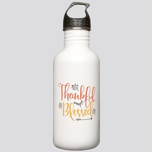 Thankful and Blessed Stainless Water Bottle 1.0L