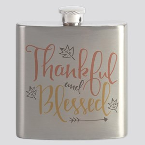 Thankful and Blessed Flask