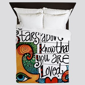 Know That You Are Loved Inspirational Queen Duvet