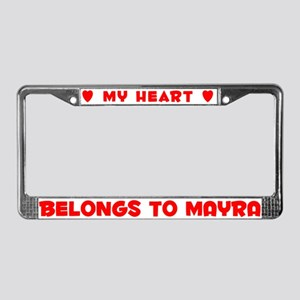 Heart Belongs to Mayra - License Plate Frame