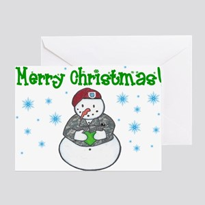 Army Snowman Greeting Card
