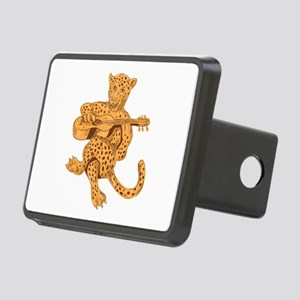Jaguar Playing Guitar Drawing Hitch Cover