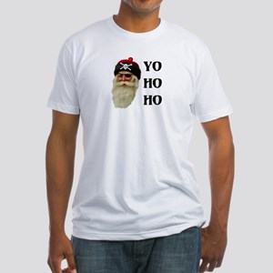 PIRATE SANTA Fitted T-Shirt
