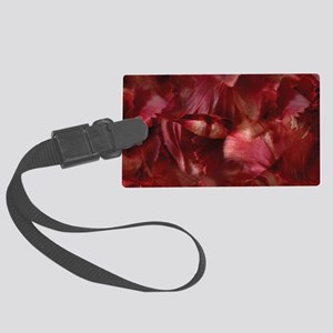 Red Tulip Petals Large Luggage Tag