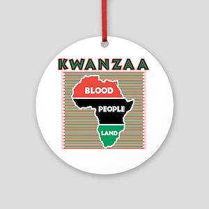 Kwanzaa Blood People Land Ornament (Round)