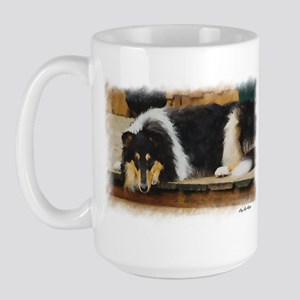 Tri Color Collie Large Mug