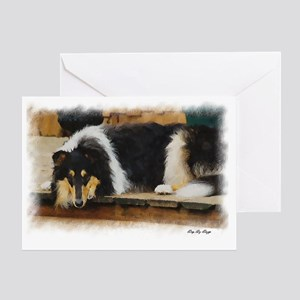 Tri Color Collie Greeting Card