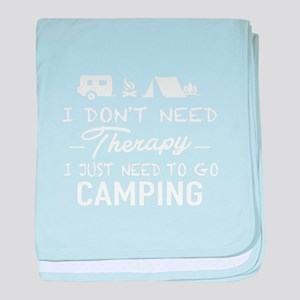 I need to go camping T-shirt baby blanket