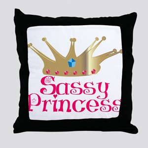 Sassy Princess Throw Pillow