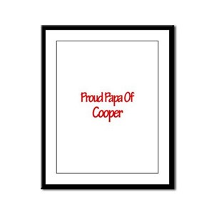 Proud Papa of Cooper Framed Panel Print