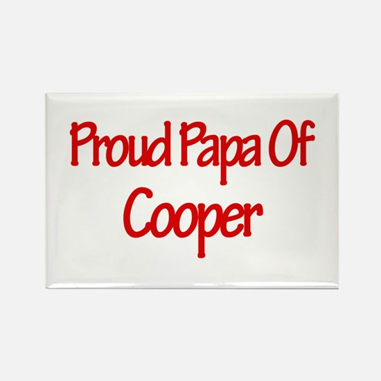 Proud Papa of Cooper Rectangle Magnet