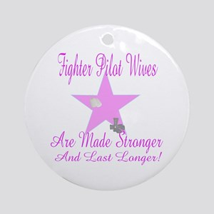 fighter pilot wives Ornament (Round)