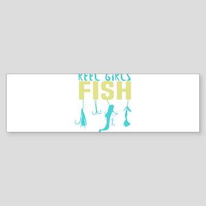 Reel girls fish T-shirt Bumper Sticker