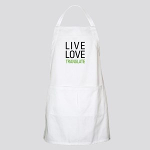 Live Love Translate BBQ Apron