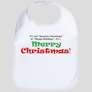 merry christmas Bib