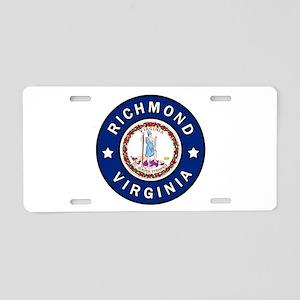 Richmond Virginia Aluminum License Plate