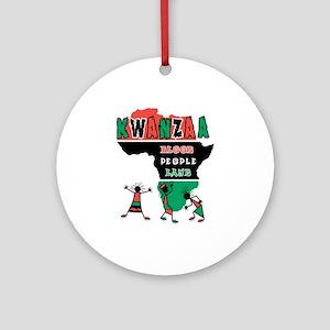 Kwanzaa: African Dancers Ornament (Round)