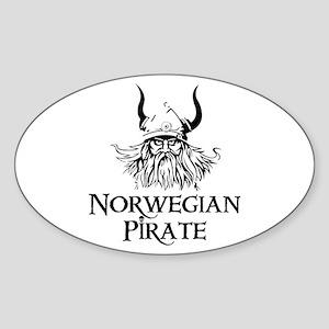Norwegian Pirate Oval Sticker