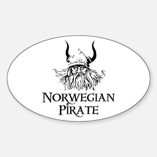 Norwegian Pirate Oval Decal