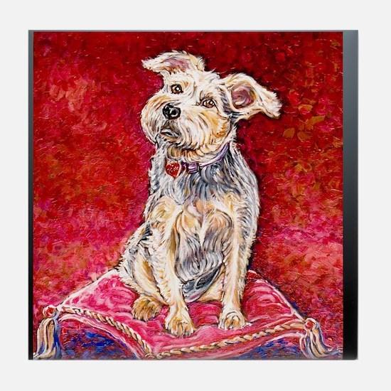 Terrier Mix Dixie Tile Coaster